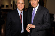 """Journalists Michael Duffy and Charlie Rose attend the Book Signing party for TIME's Nancy Gibbs And Michael Duffy's book, """"The Preidents Club"""" at the New York Public Libaray on May 2, 2012 in New York City."""