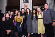 (L-)R) Actors Chris Bauer, Daniel Sauli, Maggie Gyllenhaal, Sepideh Moafi, James Franco, Margarita Levieva, Dominique Fishback, Emily Meade and Michael Rispoli attend 'An Evening with the Cast of HBO's The Deuce' to benefit Housing Works at the Housing Works Bookstore Cafe on June 23, 2019 in New York City.