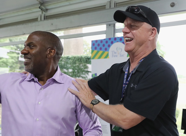 The First Tee Experience At The Northern Trust [community,arm,event,recreation,gesture,northern trust,the first tee,ridgewood country club,the first tee experience,laugh,paramus,new jersey,ceo,keith dawikins,boomer esiason]