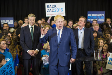 Boris Johnson David Cameron Joins Zac Goldsmith for Final Hours of Campaigning to Be London Mayor