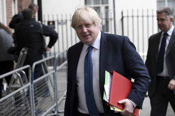 Boris Johnson Theresa May Visits HM the Queen to Ask for Parliament to Be Officially Dissolved