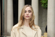 Suki Waterhouse attends the BOSS Fashion Show during the Milan Fashion Week Spring/Summer 2021 on September 25, 2020 in Milan, Italy.