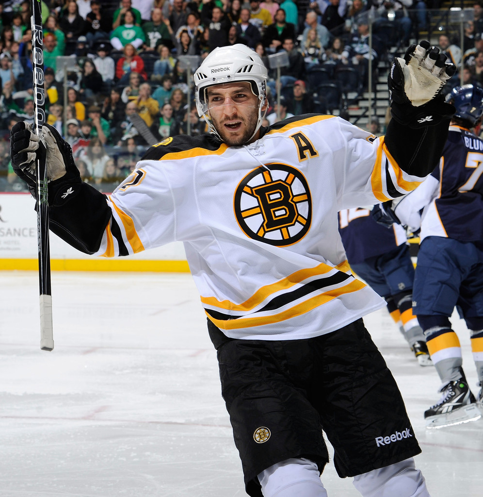 Patrice Bergeron In Boston Bruins V Nashville Predators