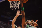 Paul Pierce # 34 of Celtics competes with Antonis Fotsis # 8 of Armani during the NBA Europe Live game between EA7 Emporio Armani Milano v Boston Celtics at Mediolanum Forum  on October 7, 2012 in Milan, Italy.