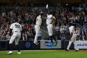 Giancarlo Stanton Aaron Hicks Photos Photo