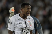 Jo of Corinthians yells during the match between Botafogo and Corinthians as part of Brasileirao Series A 2017 at Engenhao Stadium on October 23, 2017 in Rio de Janeiro, Brazil.