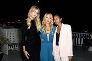 (L-R) Tori Praver, Rachel Zoe, and Lizzy Mathis attend the Box of Style By Rachel Zoe Female Founders Dinner at The AllBright West Hollywood on October 03, 2019 in West Hollywood, California.