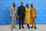 "(L-R) Author William Kamkwamba, director Chiwetel Ejiofor, and actors Aissa Maiga and Maxwell Simba pose at the photocall for the Netflix film ""The Boy Who Harnessed The Wind"" during the 69th Berlinale International Film Festival Berlin at Grand Hyatt Hotel on February 12, 2019 in Berlin, Germany."