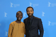 "(L-R) Maxwell Simba and director Chiwetel Ejiofor pose at the photocall for the Netflix film ""The Boy Who Harnessed The Wind"" during the 69th Berlinale International Film Festival Berlin at Grand Hyatt Hotel on February 12, 2019 in Berlin, Germany."