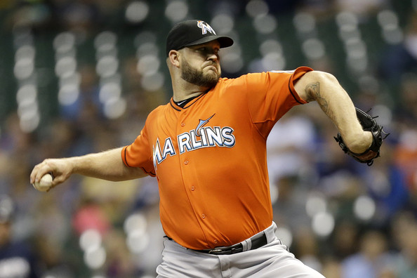 Miami Marlins v Milwaukee Brewers [baseball player,pitcher,sports,player,championship,team sport,arm,pitch,ball game,baseball,brad penny,milwaukee,wisconsin,miller park,miami marlins,milwaukee brewers,inning]