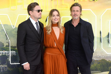 Brad Pitt Margot Robbie 'Once Upon a Time in Hollywood'  UK Premiere - Red Carpet Arrivals