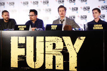 "Brad Pitt ""Fury"" - Press Conference - 58th BFI London Film Festival"