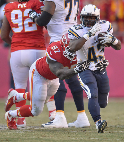 San Diego Chargers Chiefs Game: Branden Oliver Photos Photos
