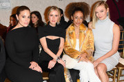 (L-R) Ashley Graham, Nicky Hilton Rothschild, Lindsay Wagner, and Karlie Kloss attend the Brandon Maxwell front row during New York Fashion Week: The Shows at Penn Plaza Pavilion on February 9, 2019 in New York City.