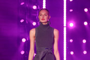 Romee Strijd walks the runway at Brandon Maxwell Fall Winter 2018 Collection at the Appel Room on February 11, 2018 in New York City.