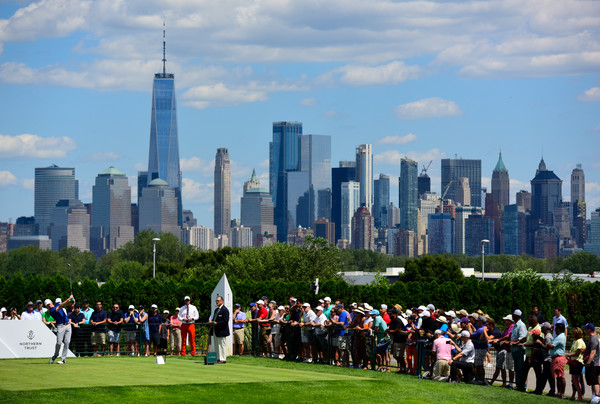 The Northern Trust - Final Round [shot,skyline,city,metropolitan area,people,urban area,daytime,human settlement,cityscape,skyscraper,crowd,tee,brandt snedeker,united states,new jersey,jersey city,northern trust,the northern trust,round,round]