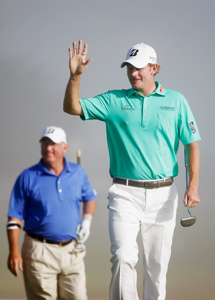 AT&T Pebble Beach National Pro-Am - Final Round [golf,green,standing,arm,recreation,gesture,golf course,fourball,golf equipment,sport venue,brandt snedeker,toby wilt,galley,waves,green,pebble beach golf links,pebble beach,at t pebble beach national pro-am,round,round]