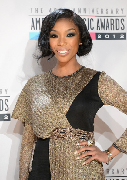 Brandy - The 40th American Music Awards - Press Room