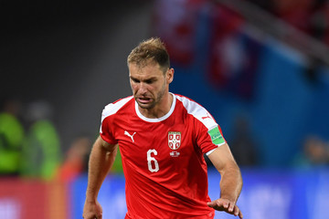 Branislav Ivanovic Serbia Vs. Switzerland: Group E - 2018 FIFA World Cup Russia