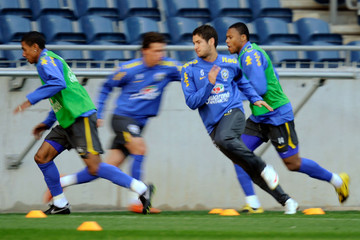 Julio Batista Brazil Training Session-FIFA Confederations Cup