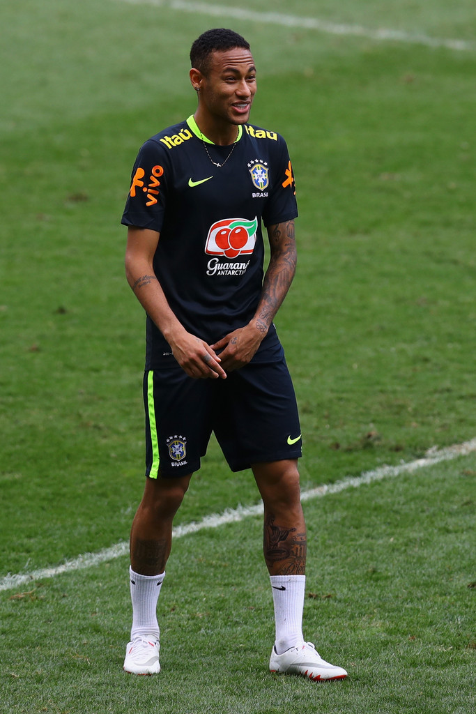 neymar photos photos brazil training session and press conference 2018 fifa world cup russia. Black Bedroom Furniture Sets. Home Design Ideas