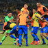 Richarlison Photos - Players of Brazil celebrate after winning the Copa America Brazil 2019 Semi Final match between Brazil and Argentina at Mineirao Stadium on July 02, 2019 in Belo Horizonte, Brazil. - Brazil v Argentina: Semi Final - Copa America Brazil 2019