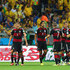 Bastian Schweinsteiger Miroslav Klose Photos - Sami Khedira of Germany (C) celebrates with his team-mates (L-R)  Mesut Oezil, Miroslav Klose, Benedikt Hoewedes, Bastian Schweinsteiger, Thomas Mueller, Toni Kroos of Germany and Philipp Lahm after scoring their fifth goal during the 2014 FIFA World Cup Brazil Semi Final match between Brazil and Germany at Estadio Mineirao on July 8, 2014 in Belo Horizonte, Brazil. - Brazil v Germany