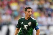 Andres Guardado of Mexico during the 2018 FIFA World Cup Russia Round of 16 match between Brazil and Mexico at Samara Arena on July 2, 2018 in Samara, Russia.