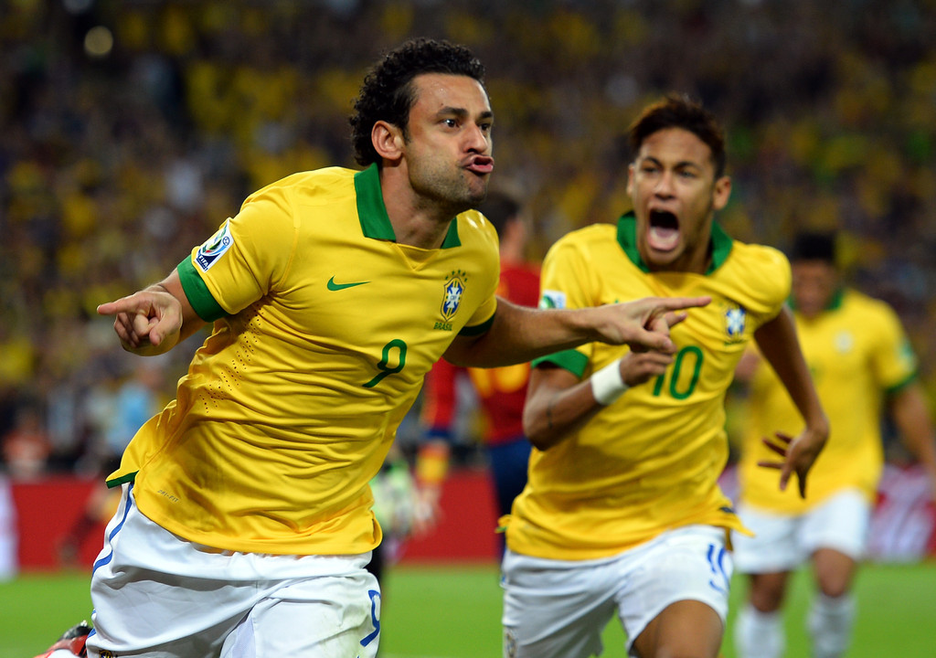 Fred pictures brazil v spain final zimbio
