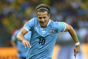 Diego Forlan of Uruguay in action during the FIFA Confederations Cup Brazil 2013 Semi Final match between Brazil and Uruguay at Governador Magalhaes Pinto Estadio Mineirao on June 26, 2013 in Belo Horizonte, Brazil.
