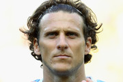 Diego Forlan of Uruguay looks on prior to the FIFA Confederations Cup Brazil 2013 Semi Final match between Brazil and Uruguay at Governador Magalhaes Pinto Estadio Mineirao on June 26, 2013 in Belo Horizonte, Brazil.