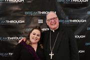 Actress Chrissy Metz and Cardinal Timothy Dolan attend a special New York screening of 'Breakthrough' at The Sheen Center on March 11, 2019 in New York City.