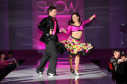 Darren Bennett and Lilia Kopylova perform on the runway for the Breast Cancer Care's London fashion show at the Grosvenor House Hotel on October 5, 2011 in London, England.