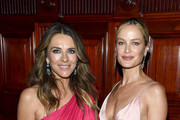 Elizabeth Hurley and Carolyn Murphy attend the Hot Pink Party hosted by the Breast Cancer Research Foundation at Park Avenue Armory on May 15, 2019 in New York City.