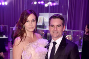 Jeff Gordon and Ingrid Vandebosch attend the Hot Pink Party hosted by the Breast Cancer Research Foundation at Park Avenue Armory on May 15, 2019 in New York City.