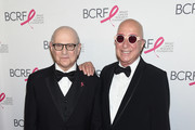 Dr. Larry Norton (L) and Paul Shaffer attend the Breast Cancer Research Foundation Hot Pink Gala hosted by Elizabeth Hurley at Park Avenue Armory on May 17, 2018 in New York City.