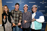 Professional surfer Sally Fitzgibbons, guest, Breitling Ambassador and Motorcross racer Ken Roczen and Professional skateboarder Ryan Sheckler attend the Breitling Boutique San Diego grand opening celebration on February 05, 2020.