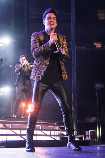 brendon urie photos photos panic at the disco in concert new york ny zimbio. Black Bedroom Furniture Sets. Home Design Ideas