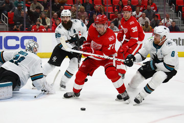 Brent Burns San Jose Sharks v Detroit Red WIngs