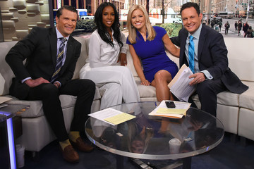 Brian Kilmeade Singer Kelly Rowland Visits 'Fox and Friends'