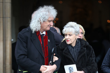 Brian May The Funeral Of Renowned Theoretical Physicist Stephen Hawking At Great St Mary's