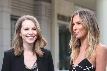Bridgit Mendler 'Extra' Interviews Bridgit Mendler At Westfield Century City