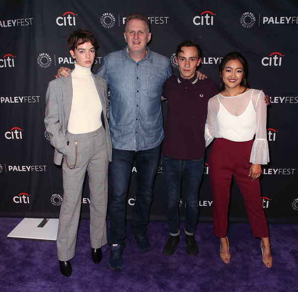 The Paley Center For Media's 2018 PaleyFest Fall TV Previews - Netflix - Arrivals [paleyfest fall tv previews,fashion,event,premiere,footwear,carpet,red carpet,technology,flooring,suit,jeans,arrivals,amy okuda,keir gilchrist,brigette lundy-paine,michael rapaport,l-r,atypical,netflix,paley center for media]