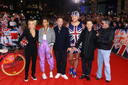 Amanda Holden, Alesha Dixon, Ant McPartlin, David Walliams, Declan Donnelly and Simon Cowell arrive at the Britain's Got Talent 2019 auditions held at London Palladium on January 20, 2019 in London, England.