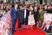 (l-r) David Walliams, Anthony McPartlin, Simon Cowell, Amanda Holden, Declan Donnelly and Alesha Dixon attend Britain's Got Talent London auditions at London Palladium on January 28, 2018 in London, England.