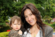 Actress Alicia Coppola and daughter Greta Jones attend Britax and Baby Buggy host Pre-Father's Day Mini Golf Open to Celebrate the summer launch of The Britax Baby Carrier at Castle Park on June 11, 2011 in Sherman Oaks, California.