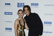 Jessica Barden and Earl Cave attends the British Independent Film Awards 2019 at Old Billingsgate on December 01, 2019 in London, England.