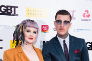Kelly Osbourne (L) attends British LGBT Awards 2019 at Marriott Hotel Grosvenor Square on May 17, 2019 in London, England.
