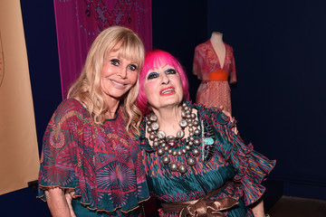 Britt Ekland Zandra Rhodes: 50 Years Of Fabulous Opens At The Fashion And Textile Museum