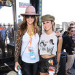 Brittany Furlan Celebrities At The Monster Energy NASCAR Cup Series Race At Auto Club Speedway